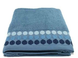 juego toallas azul