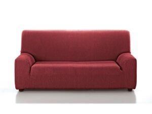 funda sofá roja lisa