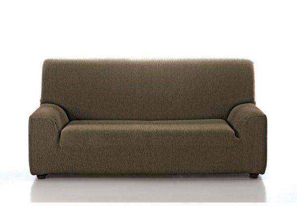 funda sofá lisa marrón