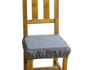 funda silla acolchada gris