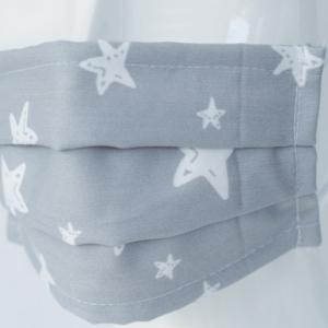 Mascarillas Homologadas Higiénicas Estrellas gris NIÑOS/NIÑAS