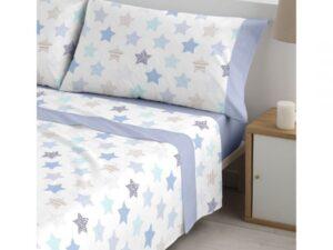 sábanas chispa azul