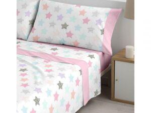 sábanas chispa rosa