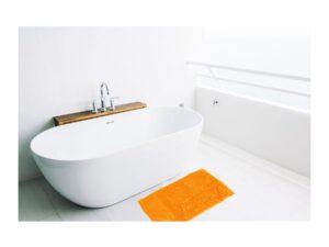 alfombra baño naranja