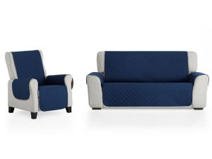 cubre sofa azul