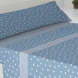 Sábanas Estrellas-Rayas Azul 135-150